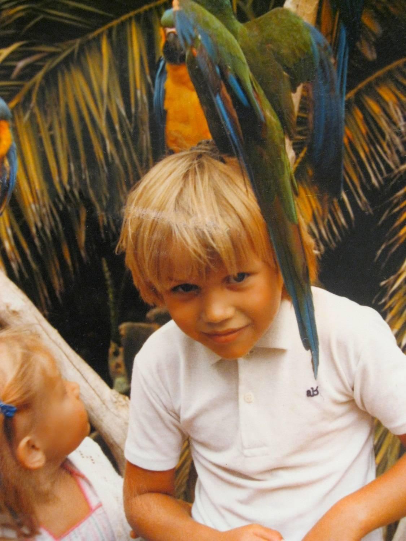 Foto de Chris Duran na Infância